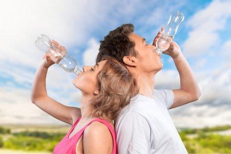Water, Drinking, Sport.
