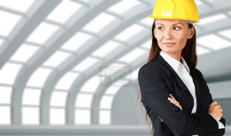 Photo pour Construction, Architecte, Femmes . - image libre de droit