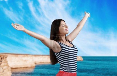 Photo pour Femmes, mode de vie sain, bonheur. - image libre de droit