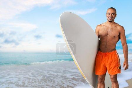Surfer, beach, bali.