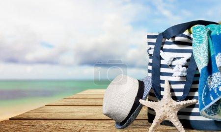 Summer, beach, bag.