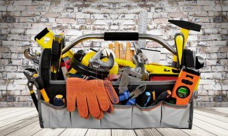 Photo pour Réparation de la boîte à outils, outil de travail, - image libre de droit
