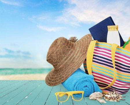 Photo for Vacations, Summer, Beach Bag. - Royalty Free Image