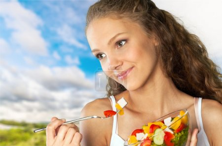 Photo for Eating, Women, Healthy Eating. - Royalty Free Image