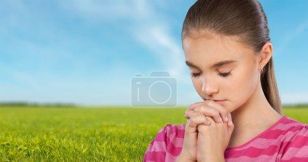 Photo pour Prier, Enfant, Religion . - image libre de droit