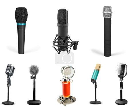 Photo pour Microphone, Radio, Vieux . - image libre de droit
