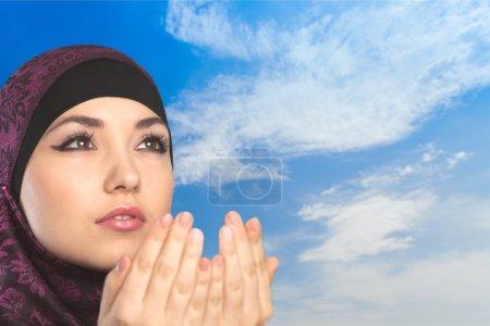 Photo for Muslim, woman, prayer. - Royalty Free Image
