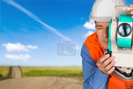 Surveyor, Road Construction, Theodolite.