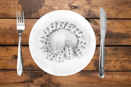 Dieting, Fork, Tape Measure.
