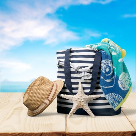 Summer, beach, bag.