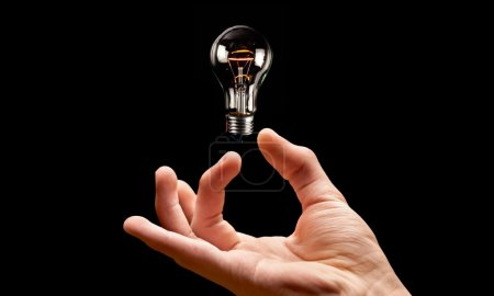Light Bulb, Solution, Human Hand.