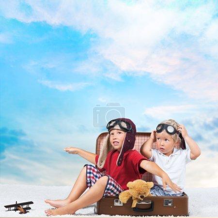 Photo for Travel, traveler, kid. - Royalty Free Image