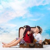 """Постер, картина, фотообои """"Путешествия, путешественник, детские."""""""