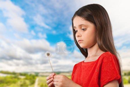 Dandelion, Blowing, Child.
