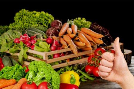 Photo pour Légumes, aliments, saine alimentation . - image libre de droit