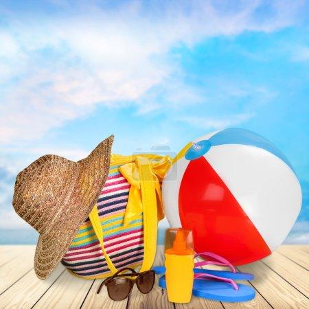 Photo pour Vacances, Plage, Eté . - image libre de droit