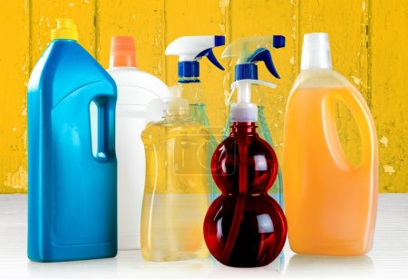 Photo for Cleaning, Chemical, Bottle. - Royalty Free Image