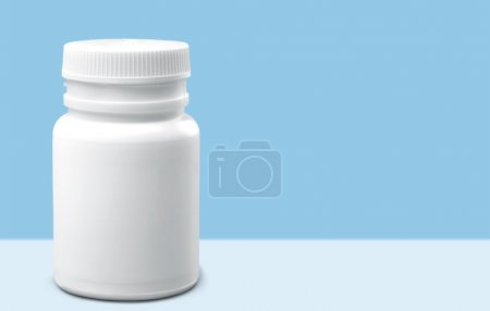 Pill Bottle, Bottle, White.