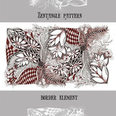 Zentangle pattern border element-3