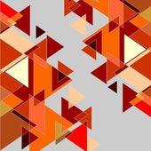 """Постер, картина, фотообои """"Графический фон в красный и оранжевый цвета"""""""