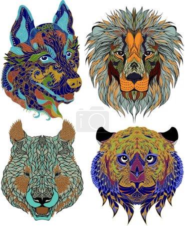 stilisierte ethnische Bestien