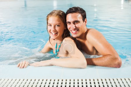 Couple at pool