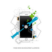 Mobile repair and development illustration