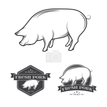 Premium pork meat labels