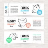 Vízszintes farm bannerek