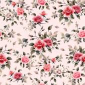 Červené a růžové růže vzorek