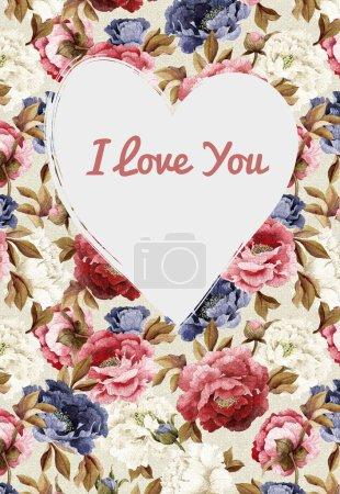 Photo pour Coeur de cadre. Éléments décoratifs pour cartes, cadeaux, artisanat. Carte Saint-Valentin - image libre de droit