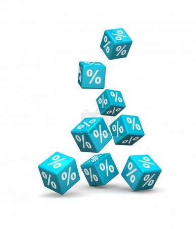 Cubes with percent signs