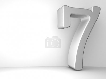 Number seven background