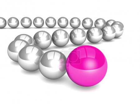 Illustration of Leadership made of balls