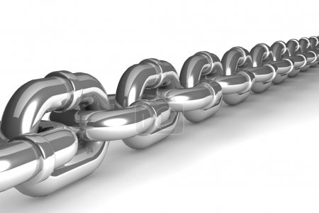 Illustration of a single chain link