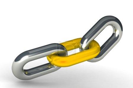 Illustration of chain links