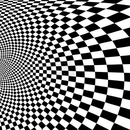 White black checkered texture