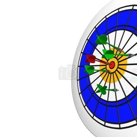 3d darts in bullseye