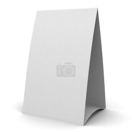 Foto de Tienda de mesa en blanco. Ilustración 3D - Imagen libre de derechos