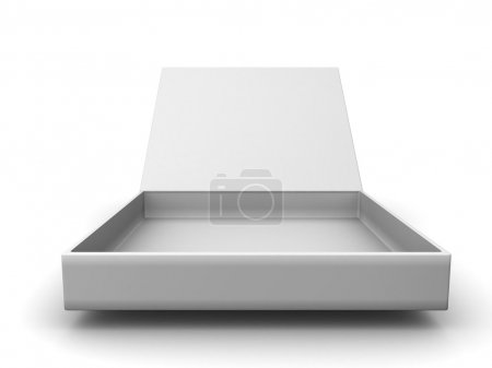 Photo for White blank open box isolated over white background - Royalty Free Image