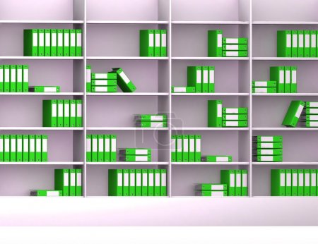 Photo for Office closet with files 3d background - Royalty Free Image