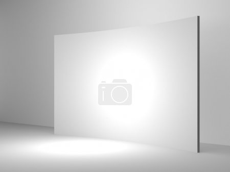 Photo for 3d render blank trade show booth for designers. Background empty room with space for your text and picture. - Royalty Free Image