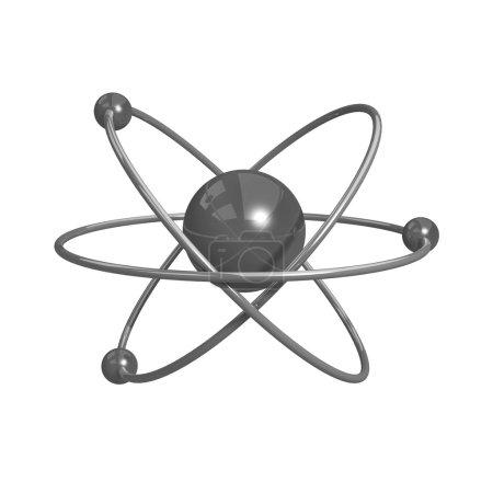 Illustration numérique de l'atome