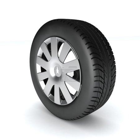 Wheel of car,  illustration.