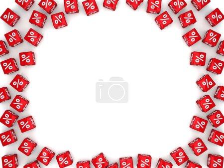 Photo pour Pourcentage de signes sur les cubes, illustration - image libre de droit