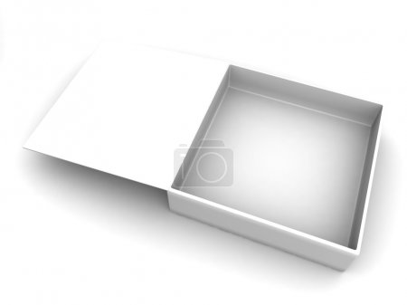 white blank open box