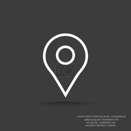 Map pointer web icon