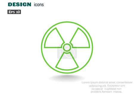 Simple icon of radiation sign