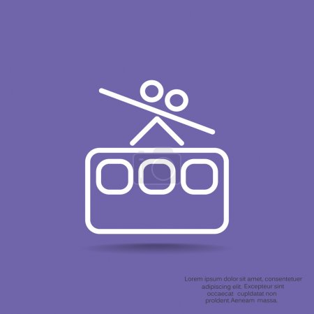 Funicular railway web icon