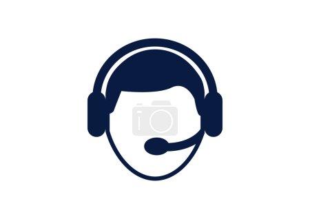 Callcenter operator simple web icon